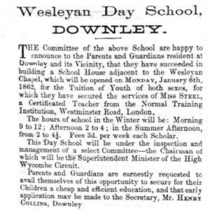 1862 Wesleyan Day School